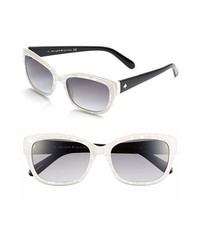 kate spade new york Kate Spade Johanna 53mm Retro Sunglasses Pearl White One Size