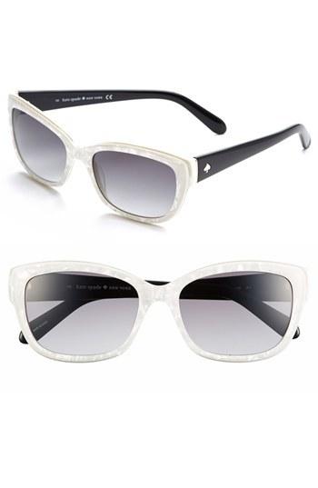 fe6cc32934d ... kate spade new york Kate Spade Johanna 53mm Retro Sunglasses Pearl  White One Size