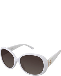 Rocawear Leather Look Detail Rectangular Sunglasses