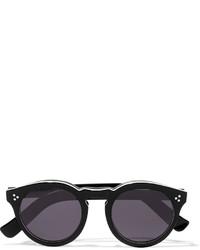 Illesteva Leonard Ii Round Frame Acetate Sunglasses Black
