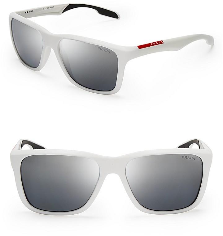 47b7a79e7 ... Prada Linea Rossa Lifestyle Sport Polarized Wayfarer Sunglasses
