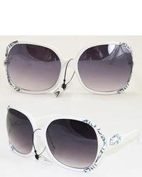 Overstock P1863 White Fashion Sunglasses
