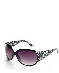 GUESS Zebra Striped Oval Sunglasses
