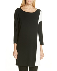 Eileen Fisher Colorblock Tencel Lyocell Sweater Dress