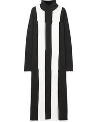 MARQUES ALMEIDA Cutout Striped Merino Wool Maxi Dress