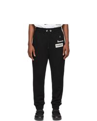 Moncler Genius 7 Moncler Fragt Hiroshi Fujiwara Black Logo Casual Lounge Pants