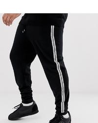 ASOS DESIGN Plus Skinny Joggers With Taping In Black