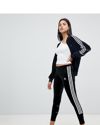 adidas Originals Three Stripe Leggings In Black Velvet