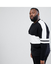 ASOS DESIGN Plus Oversized Sweatshirt With Colour Block