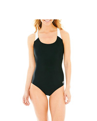Speedo Contrast Strap Ultraback 1 Piece Swimsuit