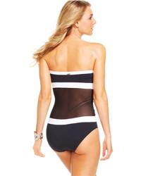 73f68b2a7d3 Anne Cole Illusion Mesh Bandeau One Piece Swimsuit, $98 | Macy's ...