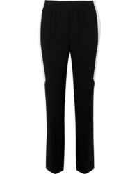 Givenchy Striped Crepe Straight Leg Pants