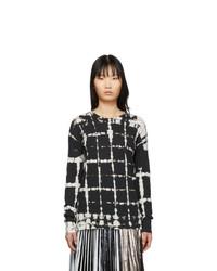 Proenza Schouler Black And White Tie Dye Long Sleeve T Shirt