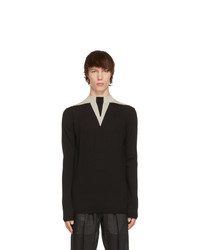 Rick Owens Black Wool Round Neck Sweater