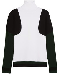Tod's Color Block Stretch Knit Turtleneck Sweater