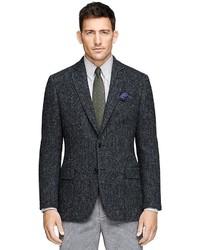 Brooks brothers fitzgerald fit harris tweed sport coat medium 349911