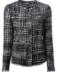 DKNY Tweed Collarless Jacket