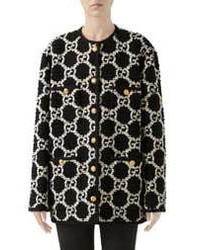 Gucci Gg Optical Tweed Jacket
