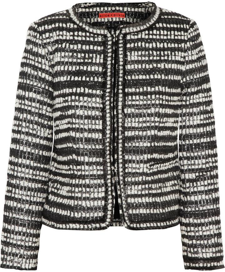 Black And White Tweed Jackets Alice Olivia Kidman Jacket