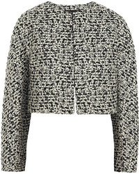 Metallic tweed jacket medium 141481