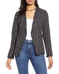 Halogen Open Front Tweed Jacket
