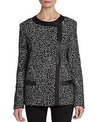 Tweed printed tulle jacket medium 141488