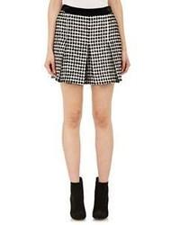 Proenza Schouler Fil Coup Basket Weave Tweed Shorts Black Size 6