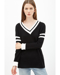 Black and white v neck sweater original 4322293