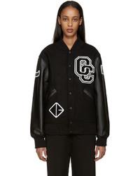 Black logo varsity jacket medium 458072