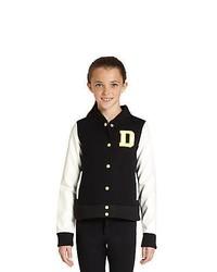 DKNY Girls Colorblock Varsity Jacket Black