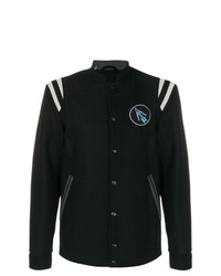 Lanvin Embroidered Felt Baseball Jacket