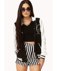 Hooded varsity jacket medium 25364