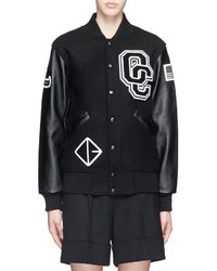 Opening Ceremony Oc Leather Sleeve Varsity Jacket