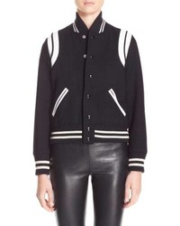 Saint Laurent Teddy White Bomber Jacket
