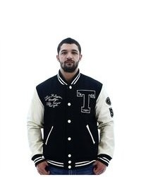True Religion Richie Letterman Varsity Jacket Coat