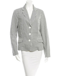 Striped crepe blazer medium 809769