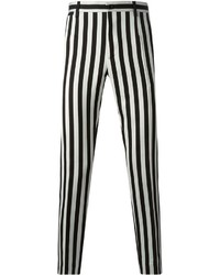 Black and White Vertical Striped Chinos