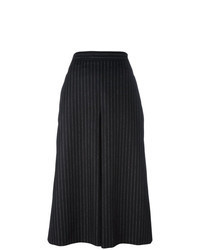 Black and White Vertical Striped Culottes