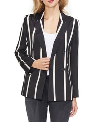 Vince Camuto Dramatic Stripe Double Breasted Blazer