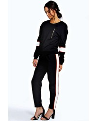 Boohoo Talia Sporty Contrast Side Trousers