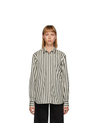 Totême Black And Off White Capri Shirt