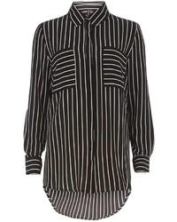 Izabel London Black Stripe Blouse
