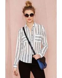 J.o.a. Joa Takin Care Of Business Striped Shirt