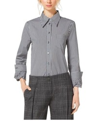 Michael Kors Michl Kors Striped Cotton Poplin Twist Cuff Shirt