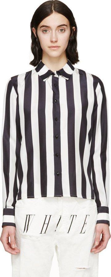 4f1d9c7193140 ... Off White Black White Striped Silk Shirt ...