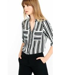 Express Original Fit Vertical Bar Stripe Portofino Shirt Multi X Small