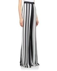 Balmain Striped High Waist Trousers