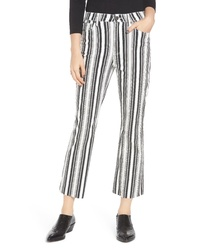 Tinsel Stripe Crop Flare Jeans