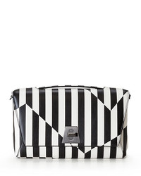 Anouk striped leather day bag blackwhite medium 1252150