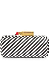Black white stripe carrie clutch medium 1252156